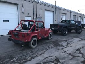 Parting out Jeep YJ