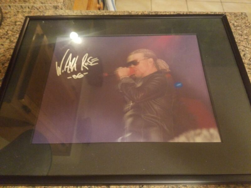 Framed 1986 W. Axl Rose Live Concert Autographed Picture