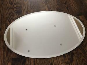 Oval Restoration Hardware Mirror