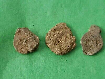 Nice lot Post Medieval official stamp lead seals. Please read description. L126e