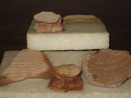 Holy Land Archaeology 5 Piece Antiquity Lot Caesarea, Baram & Jaffa Israel 67 AD