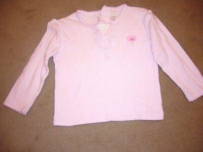 "BABY MAC pink ""Cutie"" T-SHIRT with motif & white neck insert 12-18 months - vgc"