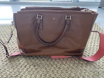 Anya Hindmarch Leather Tote Bag With Carry Handles & Changeable Shoulder Strap