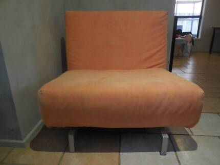 FREE orange swivel chair converts to single bed Casula Liverpool Area Preview
