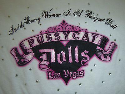Pussycat Dolls Las Vegas NWT Long Sleeve Shirt, Size Large - Sexy Bling Top