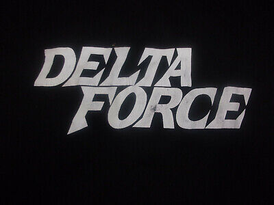 RARE Delta Force Large with Chuck Norris on the Back of black TShirt Action Hero