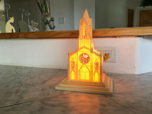Vintage Cathedral Church Lamp (Plastic)