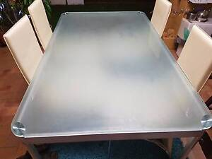 Used Glass Dining Table and 6 Chairs- NEED GONE Stanhope Gardens Blacktown Area Preview