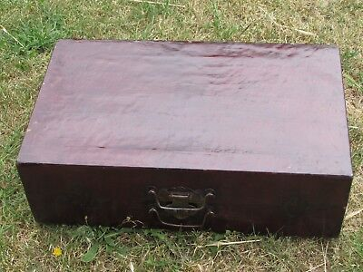 Vintage Old Suitcase Wooden Storage Box , Trunk Large