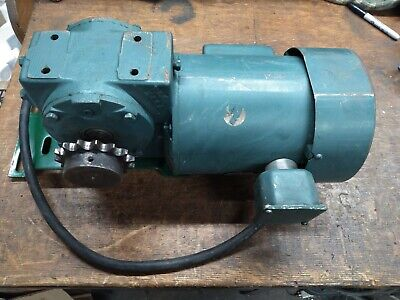 Reliance 34hp Electric Motor And Right Angle 301 Gearbox Single Phase Corded