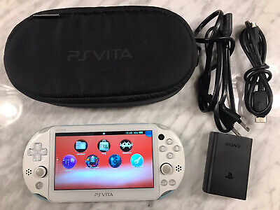 Sony Playstation PS Vita White Blue Slim 256GB CFW Henkaku 3.60 PKGJ RetroArch
