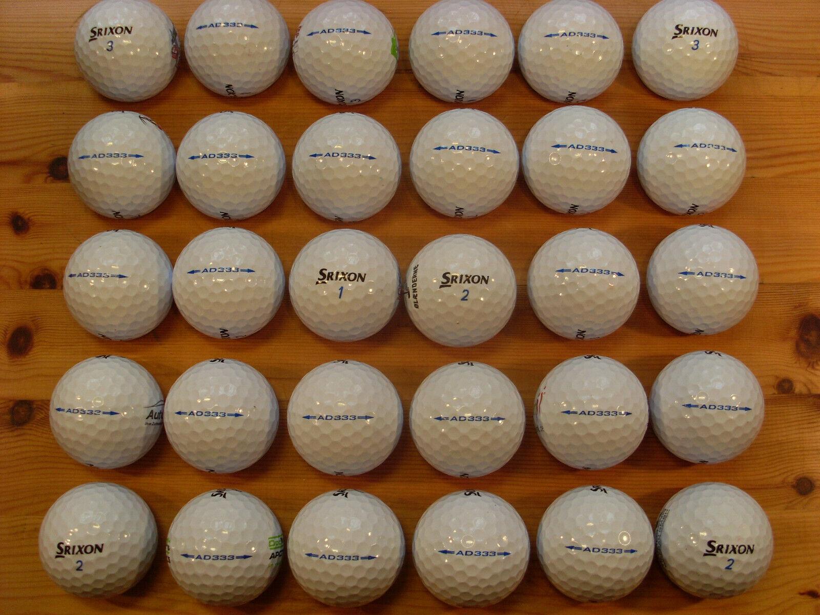 30 SRIXON AD333 gebrauchte Golfbälle Lakeballs