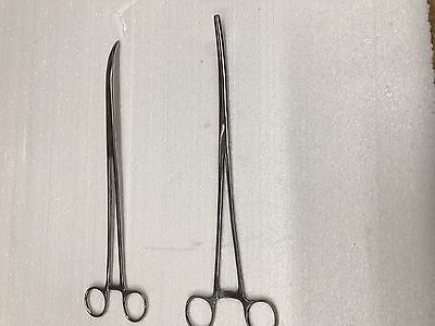REPTILE HEMOSTAT 12 INCH  (CURVED ) (PACKED 2 TO A PACKAGE)