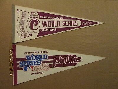 MLB Philadelphia Phillies Vintage 2 Different 1983 NL Champions Logo Pennants