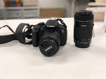 Canon 700D 18-55mm 55-250mm twin lens kit
