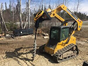 Skid steer and excavator for hire