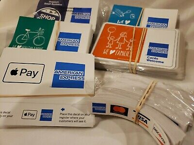 Huge Lot500 Credit Card Logo Stickers Visa Mastercard Discover Amex