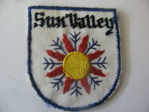 VINTAGE  SKI PATCH    SUN VALLEY    IDAHO ID  RESORT EMBROIDERED  FREE SHIPPING