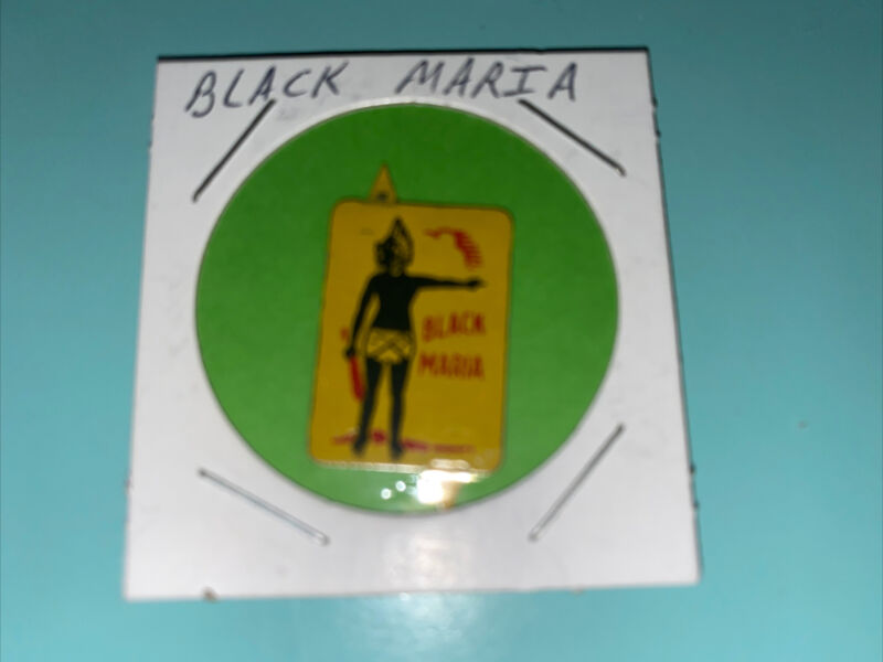 BLACK MARIA Tobacco Tag - Vintage Antique Litho Tin Tag - Tabs Attached