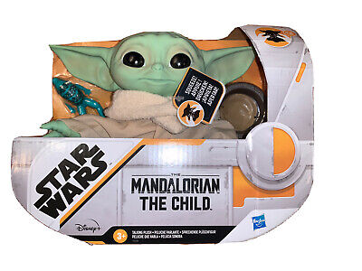 "Star Wars Mandalorian The Child Baby Yoda Talking Plush Toy 7.5"" Disney Hasbro"