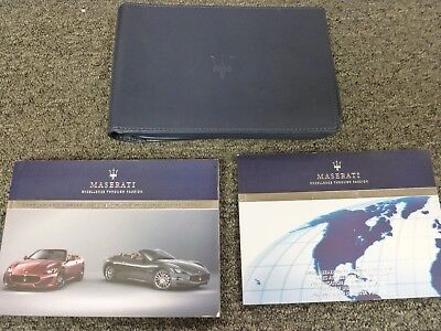 2013 Maserati Gran Turismo Convertible Owner Manual User Guide Sport 4.7L V8