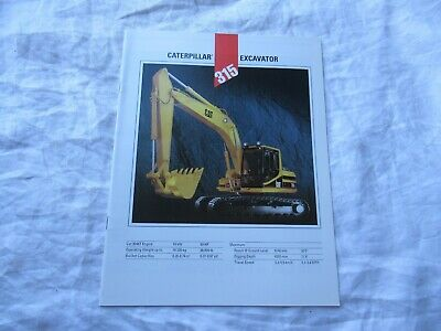 Caterpillar Cat 315 Excavator Brochure