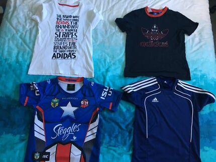 Boys clothes  7 items 4 tops 3 pants adidas