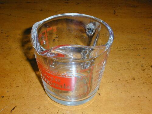 VINTAGE ANCHOR HOCKING RED 496 OVEN ORIGINALS 1 CUP MEASURING CUP - EXC COND