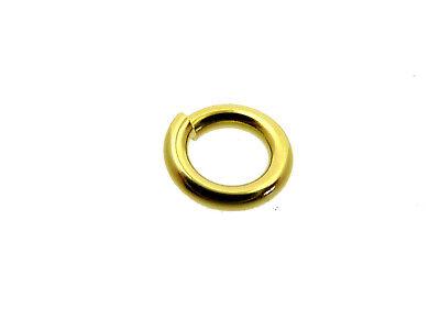 # F116c # BINDERING RUND 6 mm ÖSE OFFEN 333/000 GOLD STABIL VOM FACHHANDEL