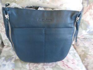 Allison Scott NWT $259.00 Leather Hobo Bag, Peacock Blue
