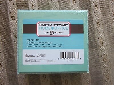 2 X Martha Stewart Shagreen Box With Lid 5 X 4.5  With Avery Stackfit