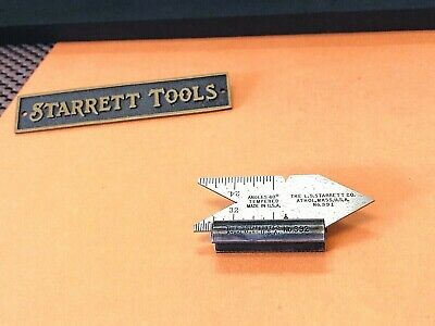 Starrett No.392 Center Gage Attachment No.391 Center Gage. Made In The Usa.