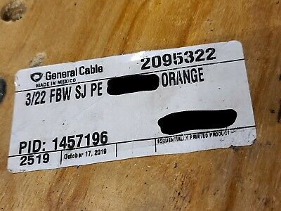 General Cable 223p Telephone Gel Fill Bsw Buried Service Wire Orange 100ft