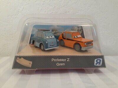NEW Disney Cars Wood Collection Wooden PROFESSOR Z & GREM Pixar TRU HTF