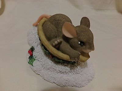 Charming Tails Sledding Nut 87/124 CHRISTMAS SNOW WINTER DEAN GRIFF (1067)