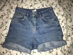 TopShop Mom Jeans cut off shorts