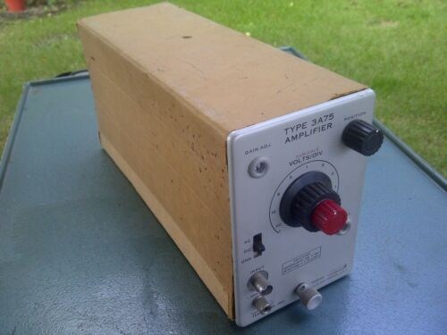 Tektronix Amplifier Type 3A75 w/ Tubes ~(2) 6DJ8 , 12BY7 ,6197 ,12AT7