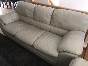 Palliser leather couch and love seat