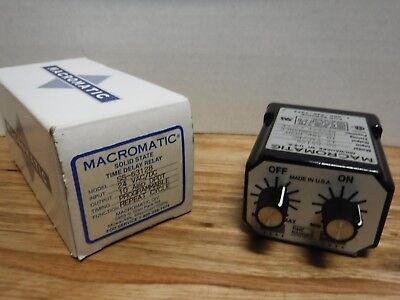 Macromatic Ss-63128 Repeat Cycle Relay Programmable 24v Acdc