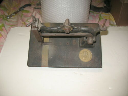 Antique Cast Iron Elias Howe Treadle Type Sewing Machine No.198827 Circa 1880