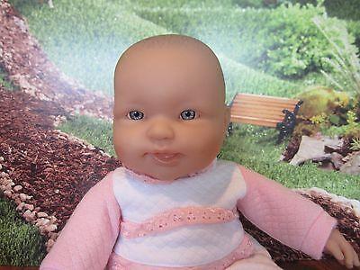 "BERENGUER BABIES 14"" BABY DOLL, SOFT BODY,BLUE EYES TONGUE"