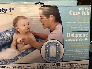 Inflatable cozy baby bath tub