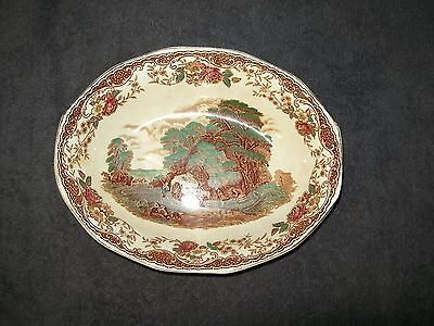 "BARKER BROS ENGLAND ROYAL TUDOR WARE ""OLDE ENGLAND"" BROWN MULTICOLOR 8"" BOWL"