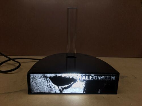 Lighted Mask Display Stand Halloween 2018 By Chainsaw Graphics Myers New Version