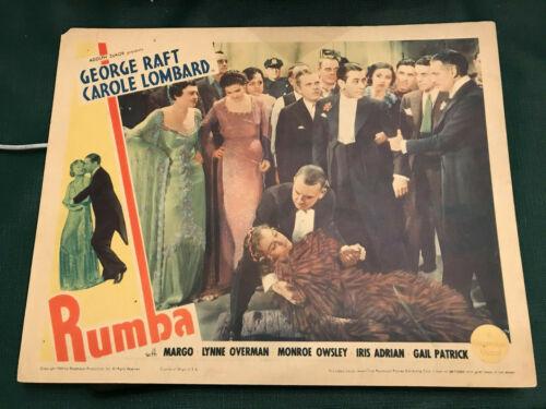 "Rumba 1935 Paramount 11x14"" musical lobby card George Raft Margo"