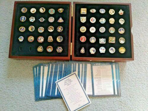 LOT of 48 NASA LAPEL PINS. Willabee & Ward Official NASA Mission Pin Collection
