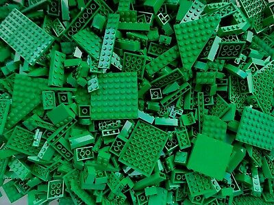 LEGO Green 1/4 lb Bulk Lot of Bricks Plates Specialty Parts Pieces Pounds