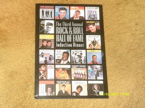 Beatles,BOB DYLAN,Beach Boys,Supremes ROCK AND ROLL HALL-FAME Program--EXCELLENT