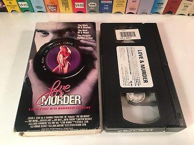 * Love & Murder Thriller VHS 1990 Todd Waring Kathleen Laskey Coyote Home Video
