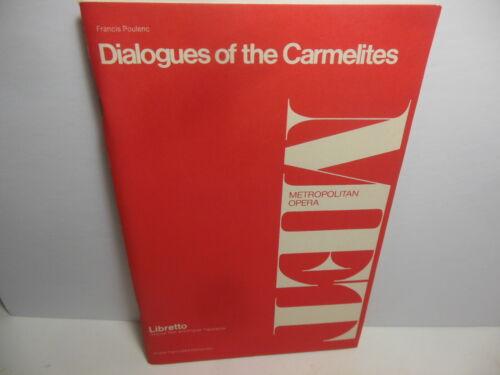 Vintage 1959 MET Metropolitan Opera Libretto Dialogues of the Carmelites Poulenc